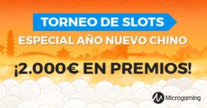 Torneo especial año nuevo chino en Paston