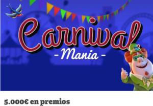 Carnival mania con 5000€ en premios en Paf