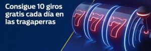 Consigue 10 giros gratis cada dia con William Hill