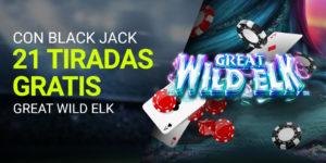 Con blackjack 21 tiradas gratis en Luckia