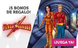 5 bonos de regalo en flash gordon con Wanabet