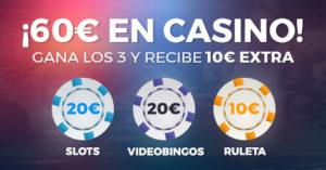 60€ para casino Paston