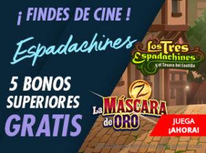 Findes de cine 5 bonos superiores gratis en Suertia