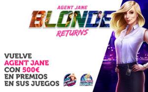 Vuelve Agent Jane con 500€ en premios en sus juegos en Wanabet
